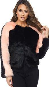 2 Tone Soft Faux Fur Winter Jacket